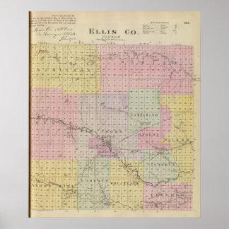 El condado de Ellis, Kansas Póster