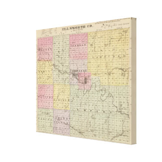 El condado de Ellsworth, Kansas Impresión En Lona Estirada