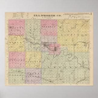 El condado de Ellsworth, Kansas Póster
