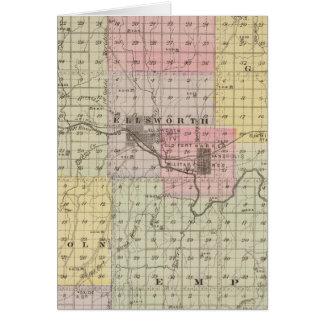El condado de Ellsworth, Kansas Tarjeta De Felicitación