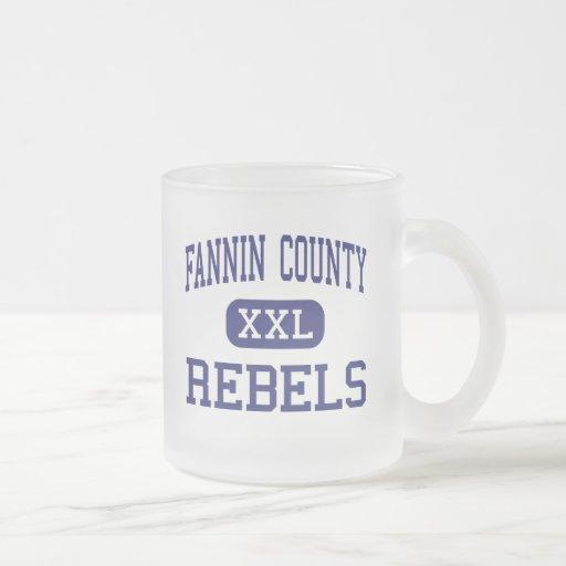 El condado de Fannin rebela Ridge azul medio Tazas