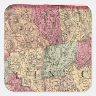 El condado de Franklin 2 Colcomanias Cuadradases