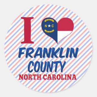 El condado de Franklin, Carolina del Norte Etiquetas Redondas
