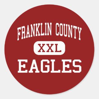 El condado de Franklin - Eagles - altos - soporte Pegatina Redonda