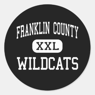 El condado de Franklin - gatos monteses - alto - Etiqueta Redonda