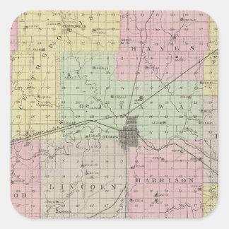 El condado de Franklin, Kansas Colcomanias Cuadradases