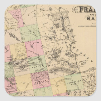El condado de Franklin, Maine Calcomania Cuadradas Personalizadas