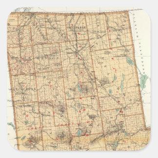 El condado de Franklin Calcomanía Cuadradas