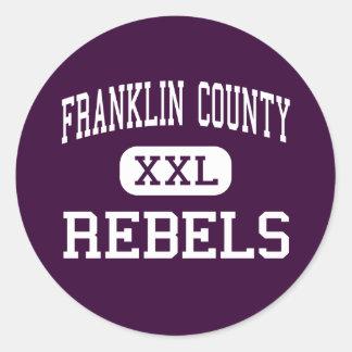 El condado de Franklin - rebeldes - alto - Pegatina Redonda