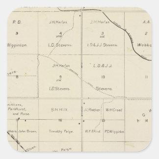 El condado de Fresno, California 33 Pegatina Cuadrada