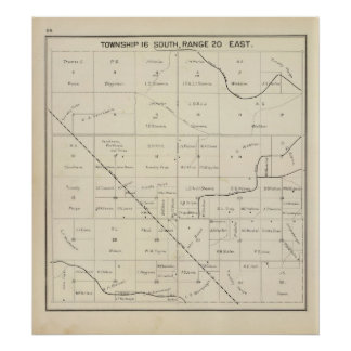El condado de Fresno, California 33 Póster