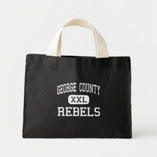 El condado de George - rebeldes - alto - Lucedale Bolsa Tela Pequeña