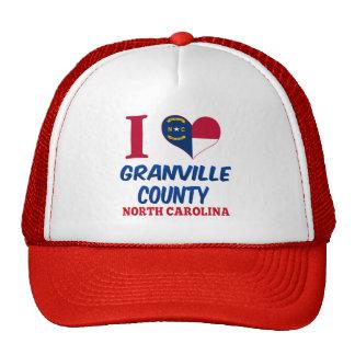 El condado de Granville, Carolina del Norte Gorras