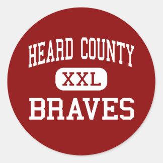 El condado de Heard - Braves - mayor - Franklin Etiquetas Redondas