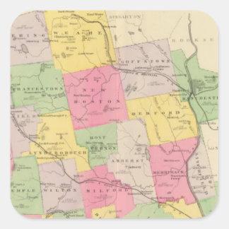 El condado de Hillsborough Pegatinas Cuadradases Personalizadas