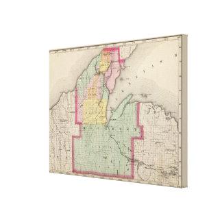 El condado de Houghton Michigan Impresiones En Lona Estiradas