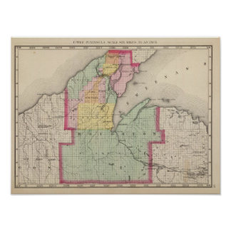 El condado de Houghton Michigan Póster