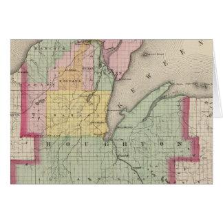 El condado de Houghton Michigan Tarjeton