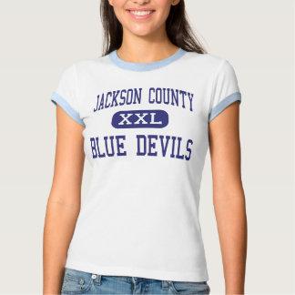 El condado de Jackson - diablos azules - alto - Camiseta