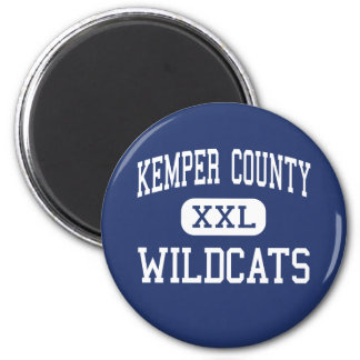 El condado de Kemper - gatos monteses - alto - De  Imán Redondo 5 Cm