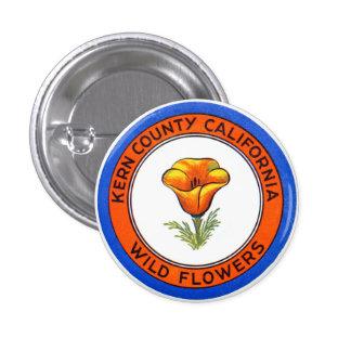 El condado de Kern 1910 California Pin Redondo De 1 Pulgada