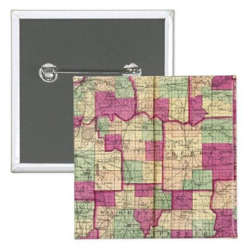El condado de Knox y el condado de Daviess Pin Cuadrado