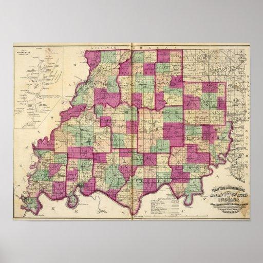El condado de Knox y el condado de Daviess Posters