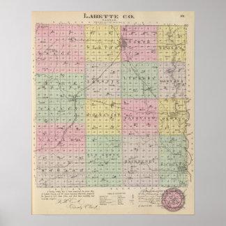 El condado de Labette, Kansas Póster