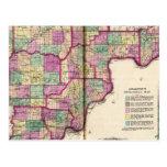El condado de Lawrence y el condado de Jackson Tarjeta Postal
