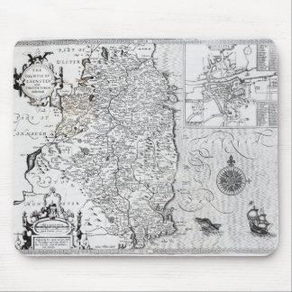 El condado de Leinster con la ciudad de Dublín Alfombrillas De Ratones