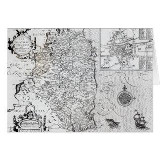 El condado de Leinster con la ciudad de Dublín Tarjeta