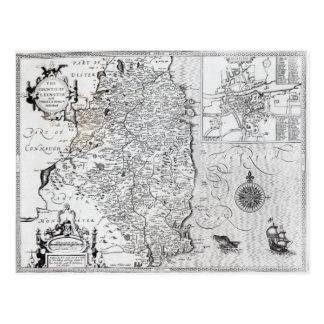 El condado de Leinster con la ciudad de Dublín Tarjeta Postal