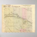 El condado de Lincoln, Nebraska Póster