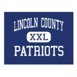 El condado de Lincoln - patriotas - alto - Postal