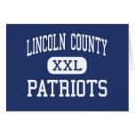 El condado de Lincoln - patriotas - alto - Felicitaciones