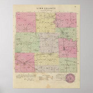 El condado de Linn, Kansas Póster