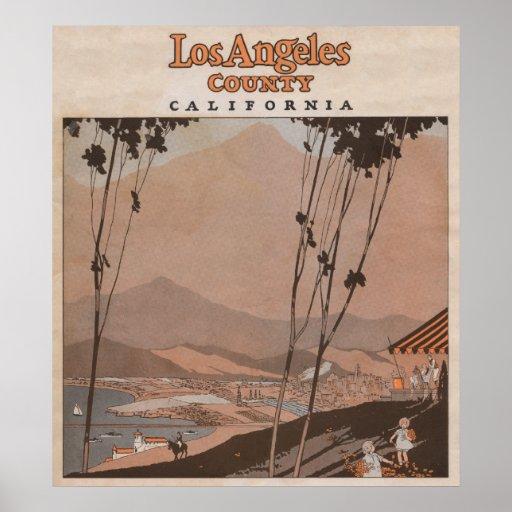 El condado de Los Angeles, California Posters