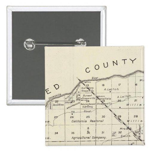 El condado de Madera, California 2 Pin Cuadrado