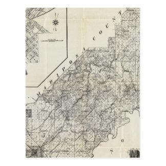 El condado de Madera, California 4 Tarjetas Postales