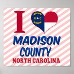 El condado de Madison, Carolina del Norte Posters