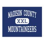 El condado de Madison - montañeses - alto - Madiso Tarjeta Postal