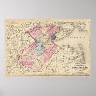 El condado de Middlesex, NJ Póster