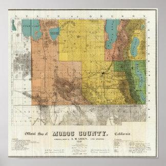 El condado de Modoc California Impresiones