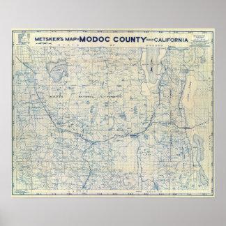 El condado de Modoc Impresiones