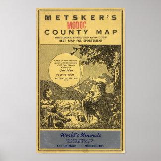 El condado de Modoc Poster