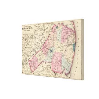 El condado de Monmouth, NJ Impresión En Tela