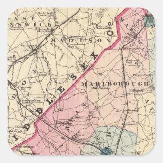 El condado de Monmouth, NJ Pegatina Cuadrada