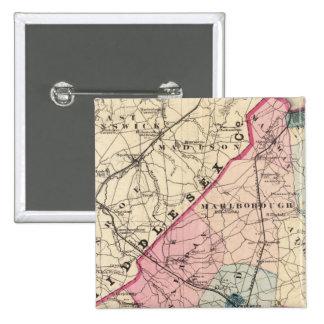 El condado de Monmouth, NJ Pin Cuadrado
