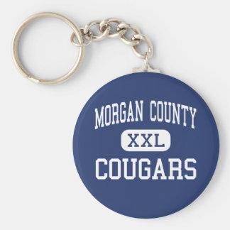 El condado de Morgan - pumas - alto - libertad del Llavero Redondo Tipo Pin