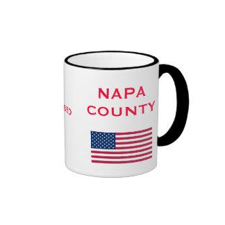 El condado de Napa * taza de cerámica de encargo